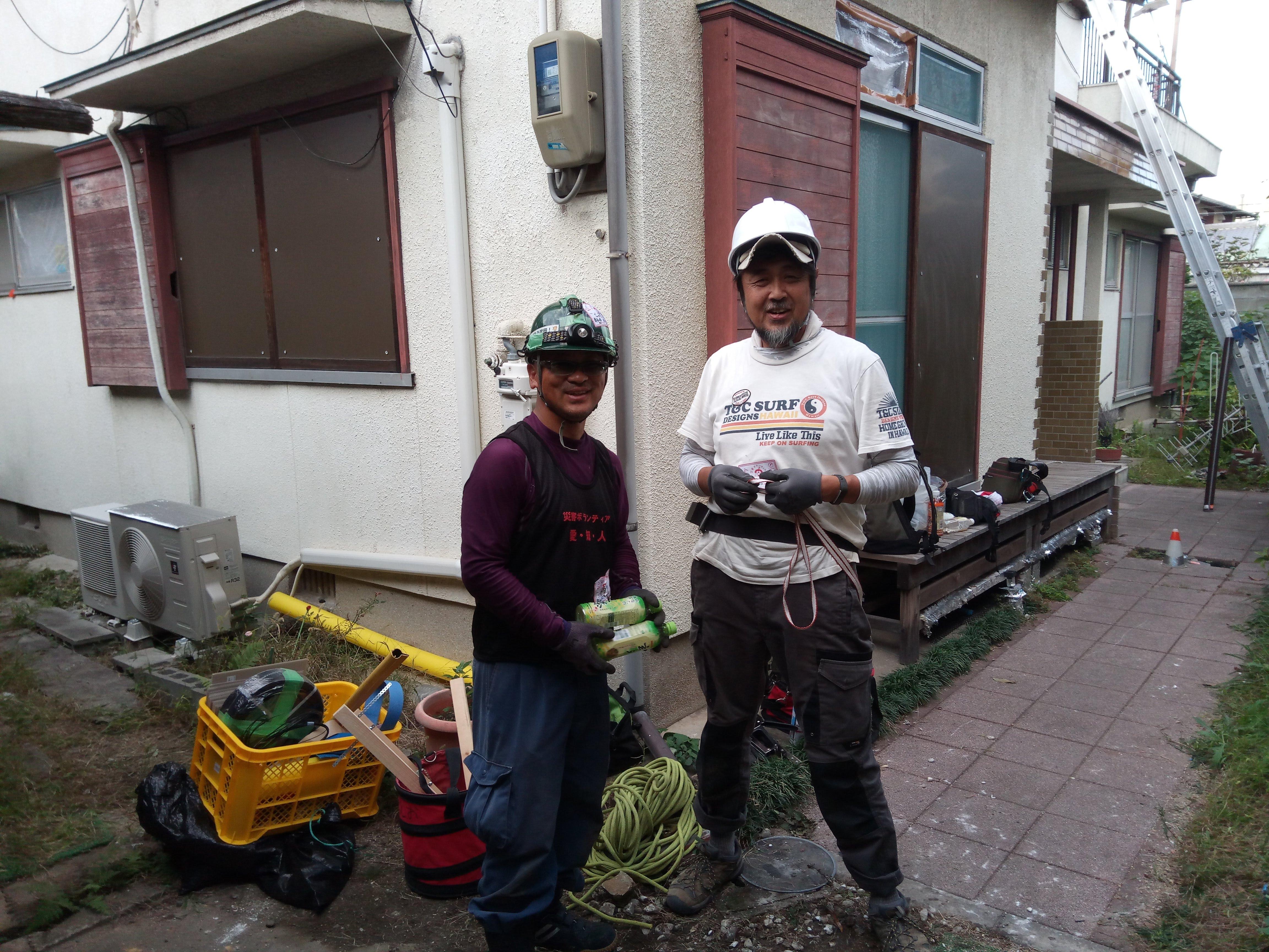 台風21号災害支援(岸和田)